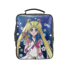 Sailor Moon Crystal Square Backpack (Model 1618)