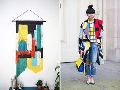 Visual comparison: wall weavings vs. street style