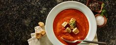 Sweet & Savory Tomato Soup the perfect fall meal! Tomato Soup Recipes, Warm Food, Specialty Foods, Thanksgiving Table, International Recipes, Soups And Stews, Great Recipes, Curry, Ethnic Recipes