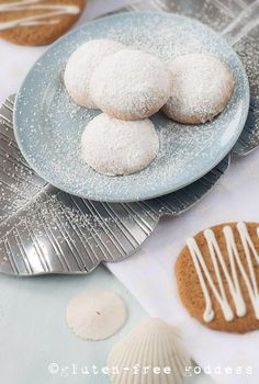 Snowy Lemon Cookies- Gluten, wheat, dairy, egg, soy, peanut, tree nut free (use Ener-G egg replacer to make egg free.)