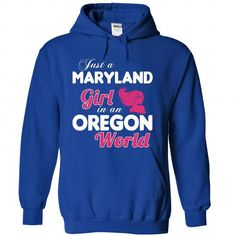 A MARYLAND-OREGON girl Pink04 - #gift for women #cool gift. GET IT => https://www.sunfrog.com/States/A-MARYLAND-2DOREGON-girl-Pink04-RoyalBlue-Hoodie.html?68278