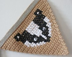 Crochet Bunting Woodland Animal Bunting Banner door TheFoxintheAttic