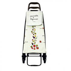 Poussette Dolly - Tarifs sur devis (contact@objetpubenligne.com) -   Réf. OGCAD1051    Chariot original et humoristique pour faire les courses dans la joie et la bonne humeur. Motifs Légumes quadrillé, En polypropylène, muni d'une pochette portefeuille.