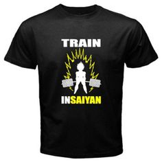 Train Insaiyan 3 Bezita Vegeta Dragon Ball Z DBZ Men's Black T-Shirt Size S-3XL
