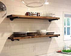 Etsy :: Your place to buy and sell all things handmade - Wnętrza - The Epoxy - Industrial Floating Shelves, Reclaimed Wood Shelves, Industrial Shelving, Rustic Shelves, Industrial Pipe, Wood Shelf, Rustic Bookcase, Industrial Furniture, Industrial Style