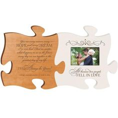 Personalized Wedding gift for couples 2pc puzzle gift frame set