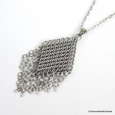 Chainmail pendant necklace stainless steel chainmail jewelry