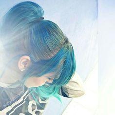 Turquesa #aquahair #bluehair #greenhair #pastelhair #hairstyle