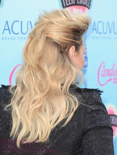 2013 Teen Choice hairstyles: back view of Demi Lovato's hair