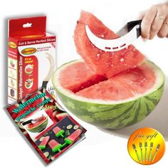 Watermelon Slicer Corer & Server With 5 Free Dessert Forks