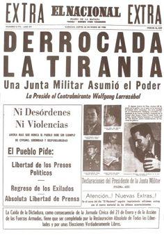 """Portada de el Nacional. """"Derrocada la tiranía"""". Publicado el 23 de enero de 1958"""