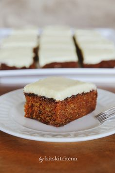 Moist, filled with sweet, freshly grated carrots, and topped off with cream…
