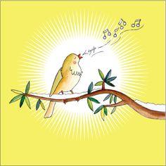 Illustratie van winter vogel... door 'Zus en ik'! Te bestellen op Canvas... liefkindje.nl