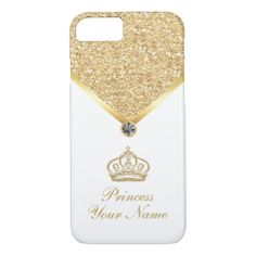 Glitzy Royal Monogram iPhone 8/7 Case - monogram gifts unique design style monogrammed diy cyo customize