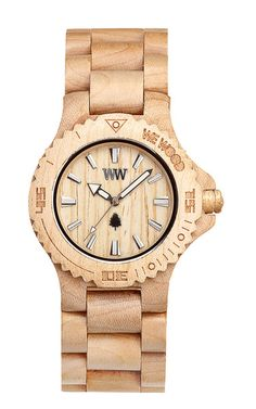 Watch made of maple by WeWOOD