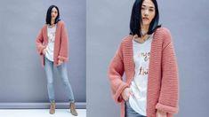 Garter Stitch, Manga, Kimono Top, Jackets For Women, Knitting, Sweaters, Tops, Dresses, Pull Mohair