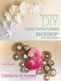 DIY Giant Paper Rose III -How to Make a Paper Flower Backdrop