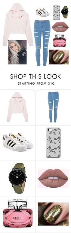 """""""Untitled #47"""" by voicila-mihaela-teodora on Polyvore featuring River Island, adidas Originals, Music Notes, CLUSE and Gucci"""
