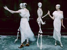 "mashamorevna:  Agyness Dean in ""Spooky"" by Tim Walker for LOVE..."