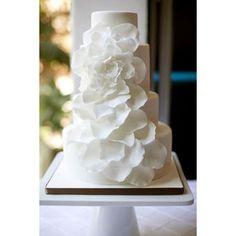 elegant white flower cake.