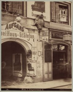 August Stauda, Singerstrasse 6, 1899 © Wien Museum High Street Shops, Documentary Photographers, Vienna Austria, Museum Collection, Photographs, Old Things, Art Deco, History, Vintage