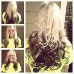Get the look with Remy Clips clip-in hair extensions! Get this ombre lowlight, without coloring your hair.  Add a darker, longer hair extension, clip in and blend with your natural hair. Create a new look in seconds, no commitment!  www.remyclips.com
