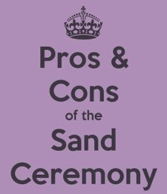 "Pros and Cons of the Wedding Unity Sand Ceremony ""Just as these grains of sand can never be separated and poured again into the individual containers, so will your marriage be."" The Wedding Sand ceremony usually lasts about minutes … Read Beach Wedding Favors, Unique Wedding Favors, Wedding Ideas, Beach Weddings, Wedding Decor, Wedding Stuff, Destination Wedding, Unity Sand, Sand Unity Ceremony"