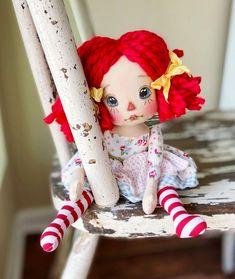 Stencil, Raggedy Ann, Ooak Dolls, Handmade Home, Doll Patterns, Elf On The Shelf, Good Things, Holiday Decor, Face