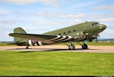 Douglas C-47A Dakota 3 (DC-3) aircraft picture.  This is an example of the type of aircraft that Ken's dad repaired and flew as crew chief in the South Pacific during WWII.