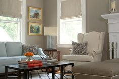 Best Valspar Greige | love the color of the walls in this room. It is very warm and ...
