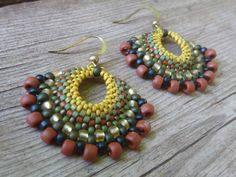fan earrings - dangle beaded jamaica earrings