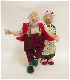 Mr & Mrs Claus ~ 12th Scale Characters ~ SOLD  <3 <3 <3