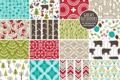 Check out Great Outdoors Seamless Patterns by Cocoa Mint on Creative Market