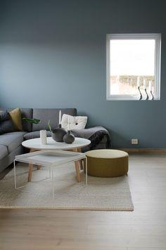 Dette fine hjemmet tilhører et ungt par som drømte om et hjem med «Nordisk- stil» i fargene blå, grå og...