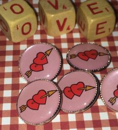 Darling double heart pink buttons  Like Buttons? Join our Facebook Group Button Button Who's Got the Button https://www.facebook.com/groups/whosgotbuttons/