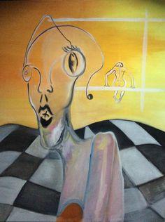 Coup de coeur du concours de peinture de Novembre sur www.myrankart.com Derrière Moi, Il Y A Soi. by mathilde solimeo