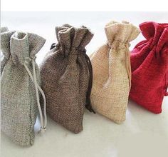 "Jute #hessian bags - #small jute gift bag #3.7""x 5"" (9.5cm-13cm) red grey brown , View more on the LINK: http://www.zeppy.io/product/gb/2/321798248676/ Hessian Bags, Brown And Grey, Small Bags, Jute, Gift Bags, Reusable Tote Bags, Gifts, Diy, Furniture"