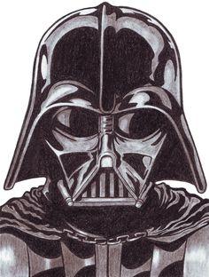 Darth Vader (Charcoal Pencils)