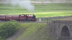 Lovely old steam engine panting across a beautiful viaduct. Steam Trains Uk, Old Steam Train, Ribblehead Viaduct, Live Train, Train Truck, Steam Railway, Train Pictures, Old Trains, Train Engines