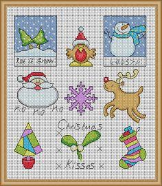 Bright Xmas Quickies - PDF Cross Stitch Patterns - Instant Download
