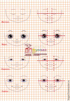 Пособие по рисования лица куклы (чувства) - Ярмарка Мастеров - ручная работа, handmade