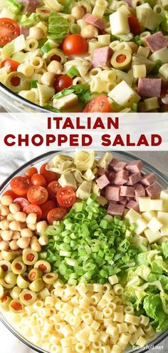 Italian Chopped Salad Recipe – Belly Full This Italian Chopped Salad is a light, yet hearty salad that tastes like your favorite Italian sub sandwich without the bread! Great as a side, for lunch, summer potlucks, or any time of year! Italian Chopped Salad, Chopped Salad Recipes, Pasta Salad Recipes, Italian Sub Salad Recipe, Italian Salad Recipes, Chopped Salads, Sandwich Sous-marin, Sandwich Sides, Easy Healthy Dinners