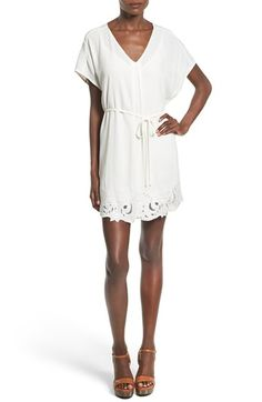 ASTR 'Heart of Gold' Contrast Hem Tunic Dress available at #Nordstrom