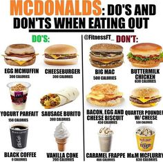 56 New Ideas For Diet Fast Food Healthy Eating Low Calorie Fast Food, Healthy Fast Food Options, Fast Healthy Meals, Healthy Meal Prep, Healthy Choices, Healthy Snacks, Healthy Eating, Healthy Recipes, Healthy Mcdonalds Options