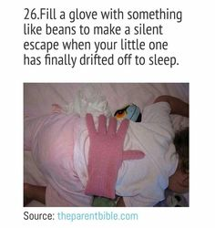 Parenting hacks! This is good for when your hands or arms need a break :)