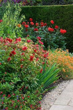 Wollerton Old Hall, one of several garden rooms , plant combinations~ Clive Nichols Garden Photography