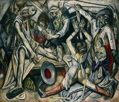 Max Beckmann, 1918–19, The Night (Die Nacht), oil on canvas, 133 x 154 cm, Kunstsammlung Nordrhein-Westfalen, Düsseldorf
