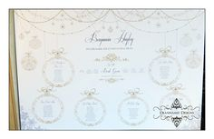 Gold Christmas themed seating plan. Deannamic Designs Gold Christmas, Christmas Themes, Seating Plans, Gold Invitations, Embellishments, How To Plan, Beautiful, Design, Gold Save The Dates
