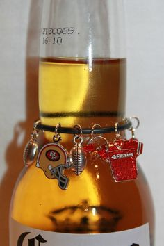 San Francisco 49ers Beer Charm 49ers Wine Charms by BAWCreations1, $9.50