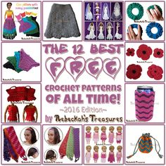 The| 12 BEST FREE Crochet Patterns of ALL TIME - 2016 Edition by @beckastreasures from 2016